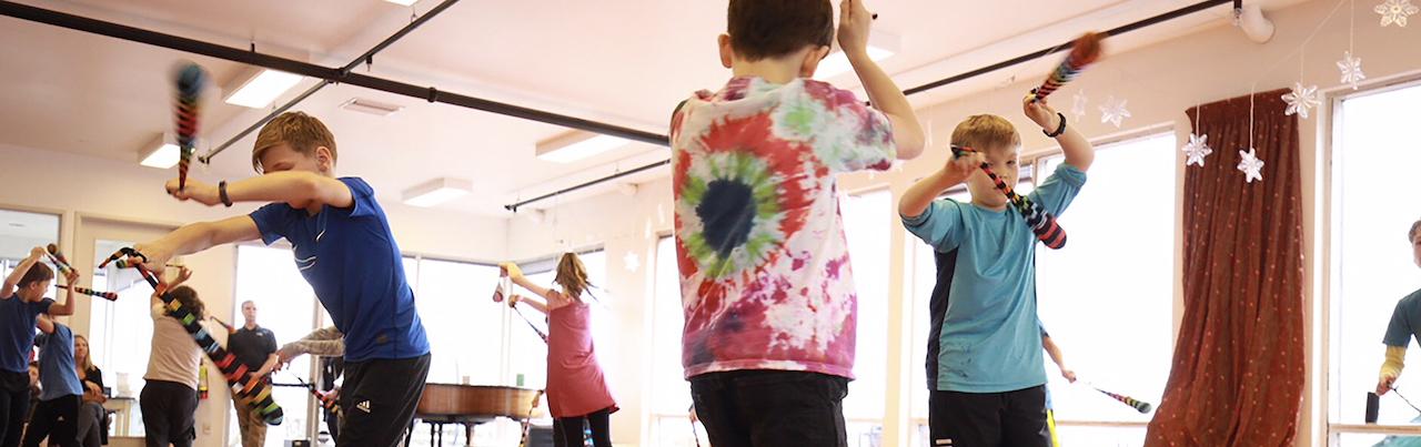 Children Spinning Poi